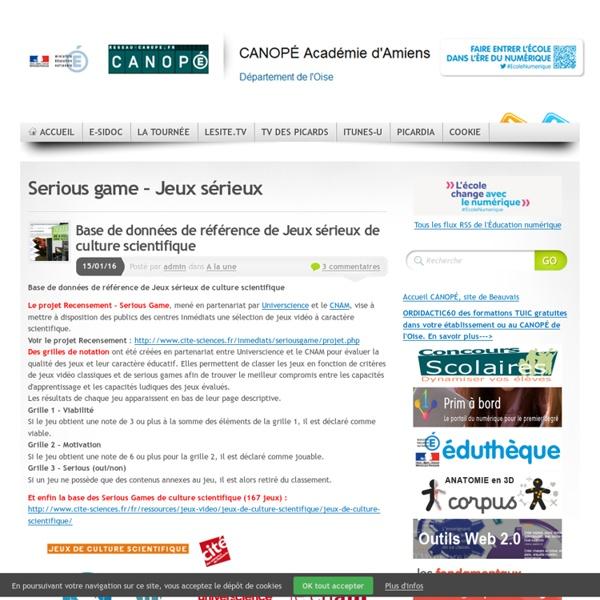 Serious Game – Jeux Sérieux