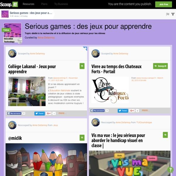 Serious games : des jeux pour apprendre