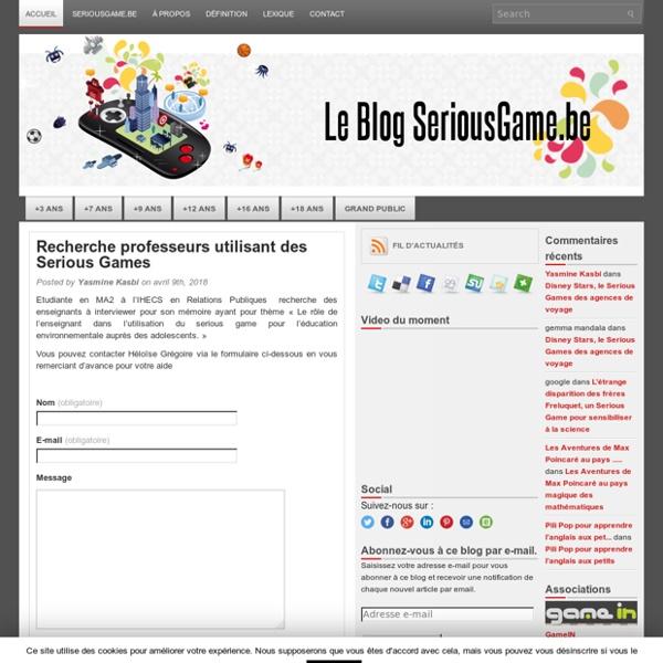 Blog SeriousGame.be