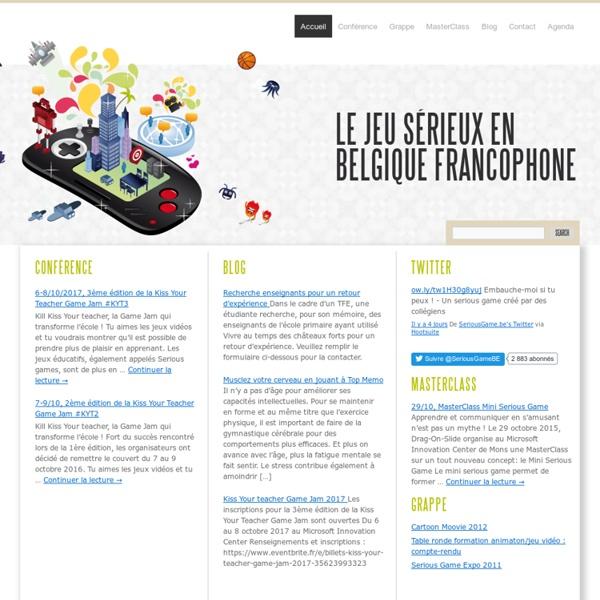 Le jeu sérieux en Belgique francophone