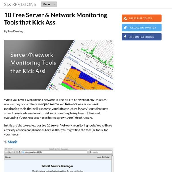 10 Free Server & Network Monitoring Tools that Kick Ass