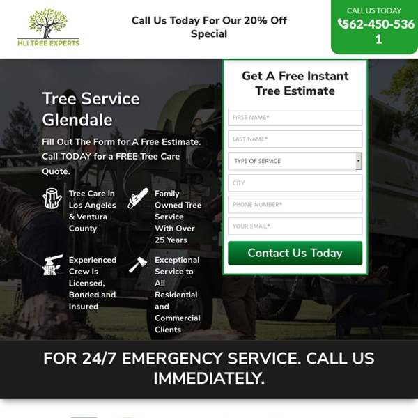 Tree Service Removal Glendale & Tree Trimming [Voted #1] □