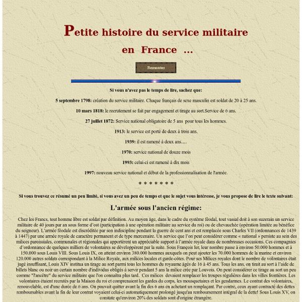 Service militaire en Franc e