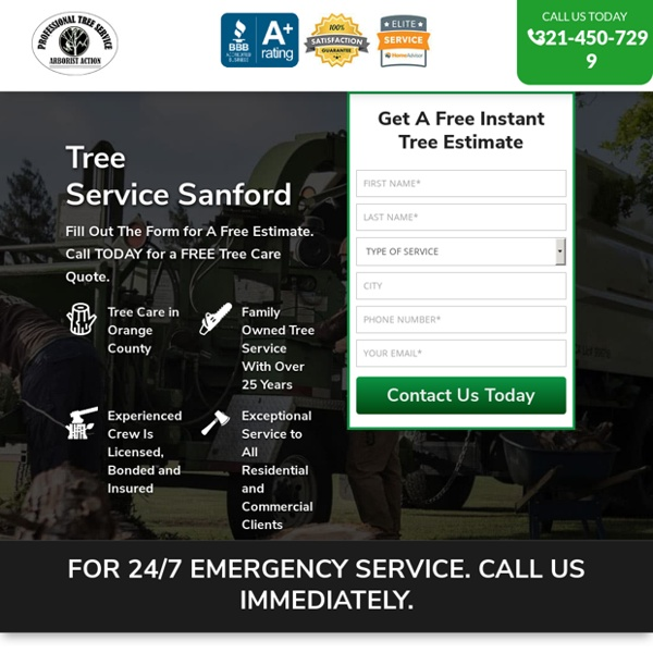 Tree Service Removal Sanford & Tree Trimming [Voted #1] □