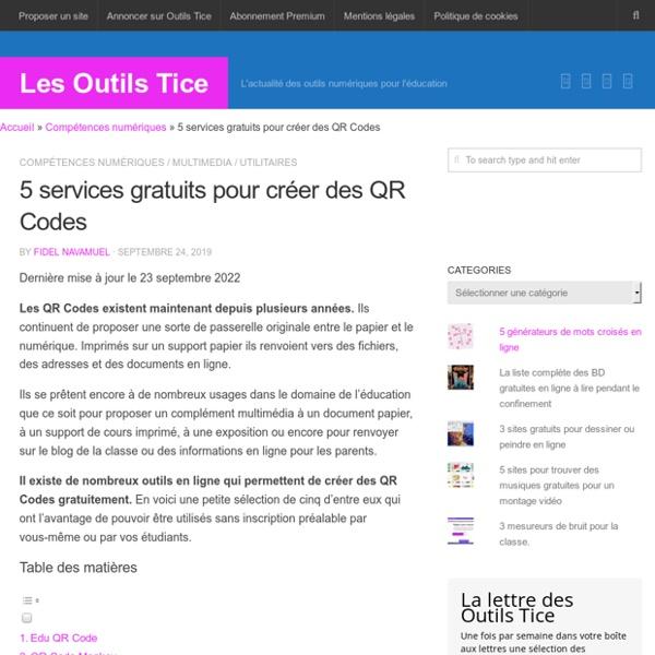 5 services gratuits pour créer des QR Codes