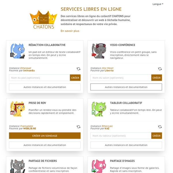 Services libres en ligne