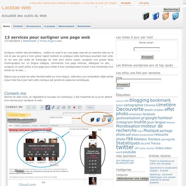 9 services pour surligner une page web