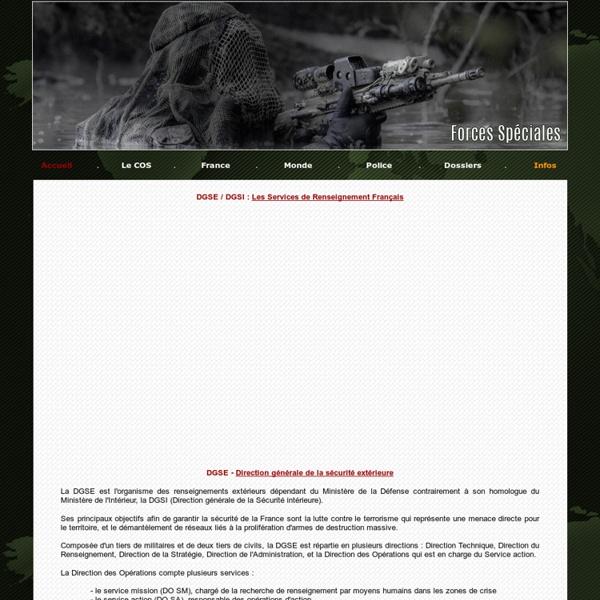 DGSE DST DCRI - Les Services Secrets Français