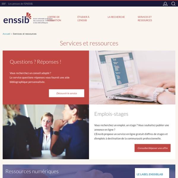 Services et ressources