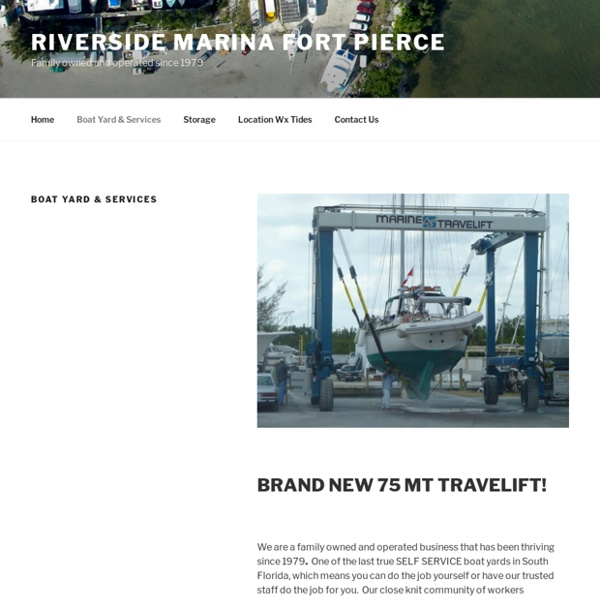 Boat Yard & Services – Riverside Marina Fort Pierce