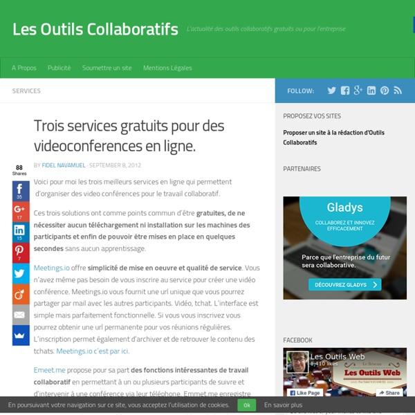 Trois services gratuits pour des videoconferences en ligne