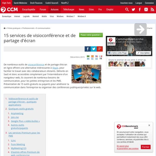 15 services de visioconférence et de partage d'écran