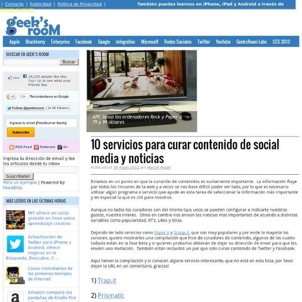 10 servicios para curar contenido de social media y noticias