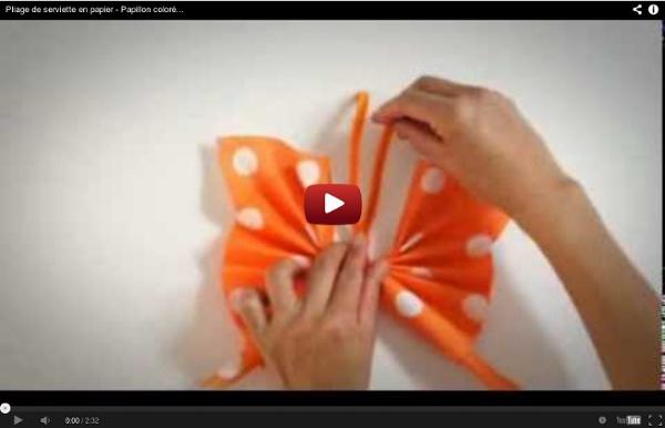 Youtube pliage serviette papier papillon - Pliage de serviette en papier facile youtube ...