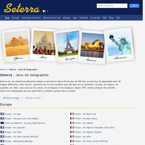 Seterra - Jeux de Géographie