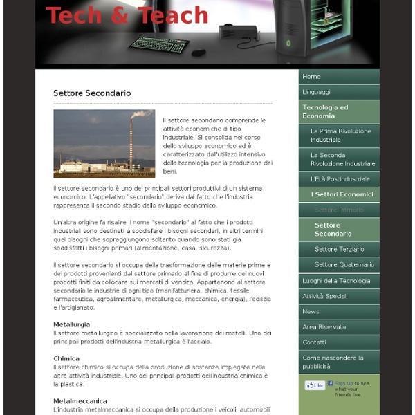 Settore Secondario - Tech & Teach