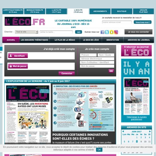 L'ECO, le seul journal d'actualité pour les jeunes, dès 14 ans
