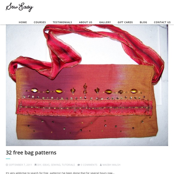Sew a bag with the free bag pattern