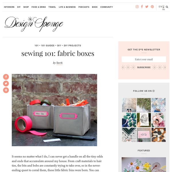 Sewing 101: fabric boxes