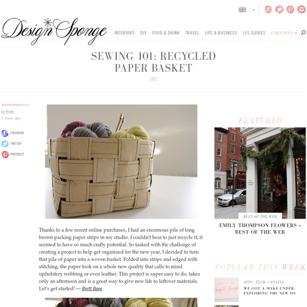 Sewing 101: recycled paper basket