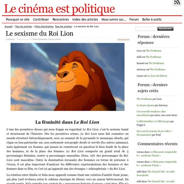 Le sexisme du Roi Lion