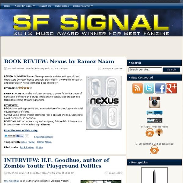 SF Signal – A Speculative Fiction Blog