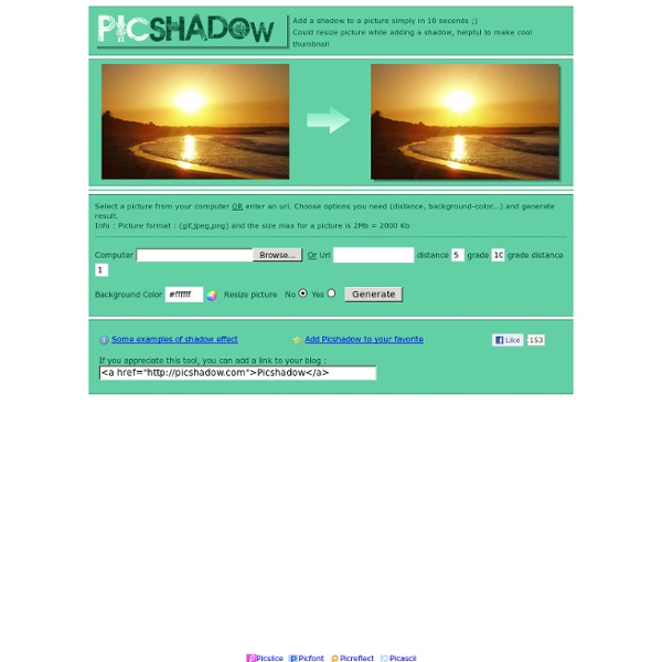 Shadow to picture - PICSHADOW