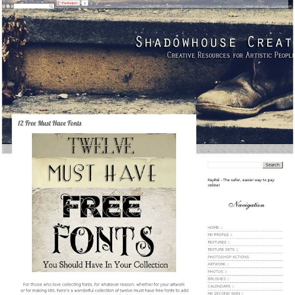 12 Free Must Have Fonts