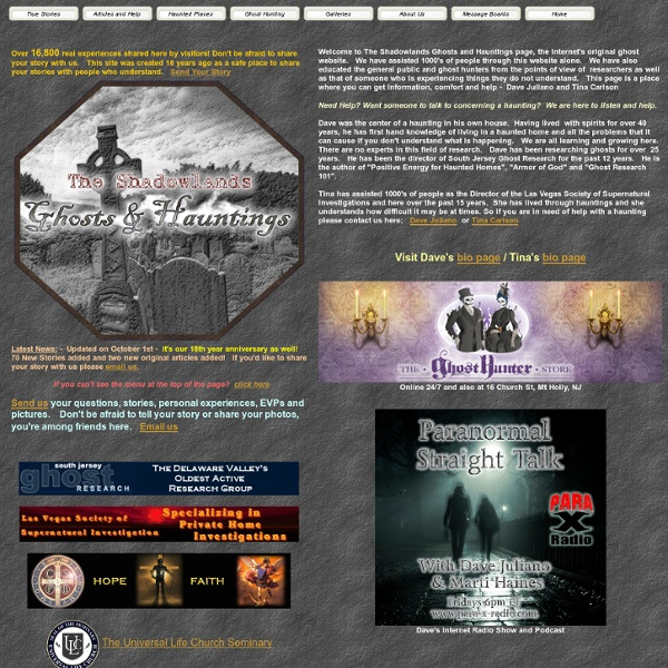 The Shadowlands: Ghosts and Hauntings