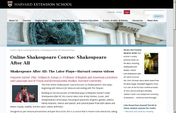 Online shakespeare course