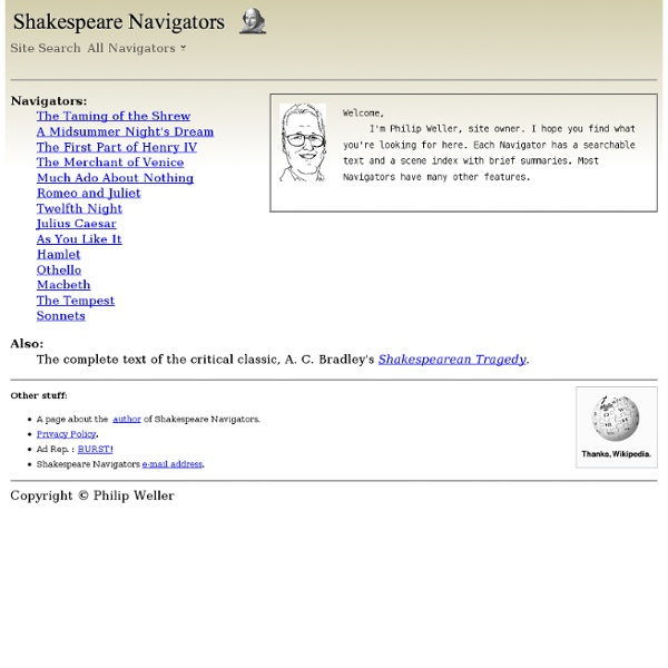 Shakespeare Navigators