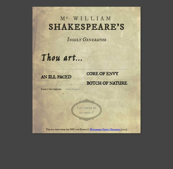 Shakespeare's Insult Generator