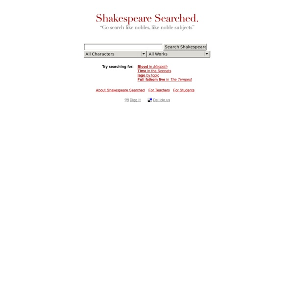 Shakespeare Searched.
