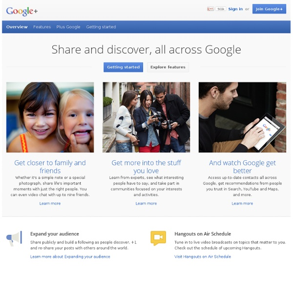 Share and discover, all across Google - Google+
