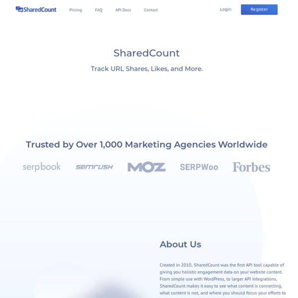 SharedCount: Social URL Analytics