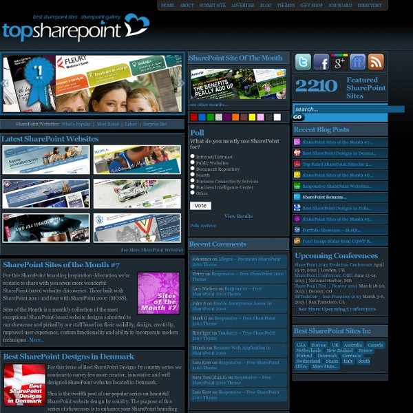 Free sharepoint themes and templates pearltrees for Sharepoint 2007 site templates