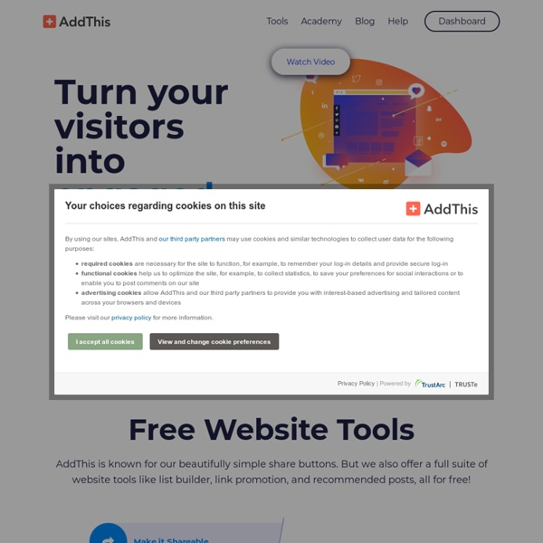 AddThis - Get more likes, shares and follows with smart website tools