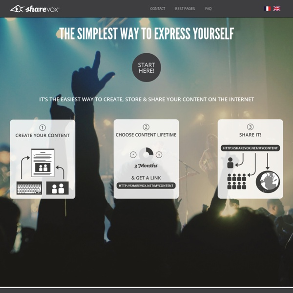 Sharevox - The simplest way to express yourself