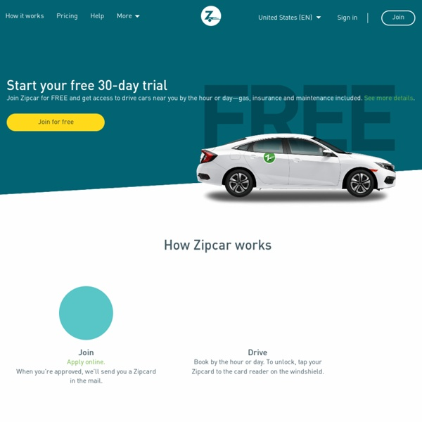 Car Sharing, an alternative to car rental and car ownership – Zipcar