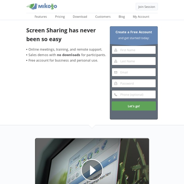 Mikogo: Free Screen Sharing and Online Meeting Software