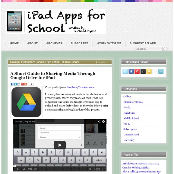 Sharing Media Through Google Drive for iPad