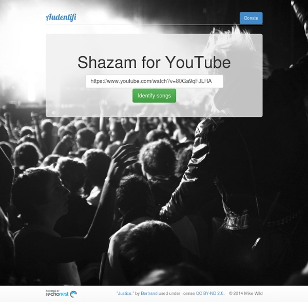 Shazam for YouTube - Audentifi