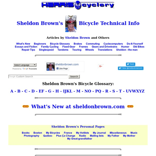 Sheldon Brown-Bicycle Technical Information