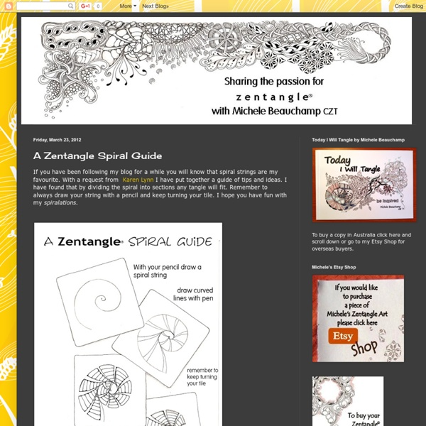 A Zentangle Spiral Guide