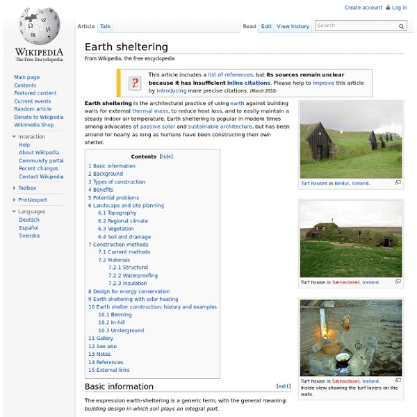 Earth sheltering