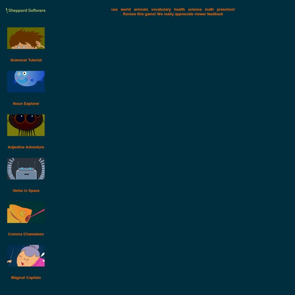 Sheppard Software's Adjective Adventure grammar game