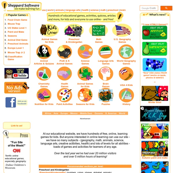 Sheppard Software: Fun free online learning games and activities for