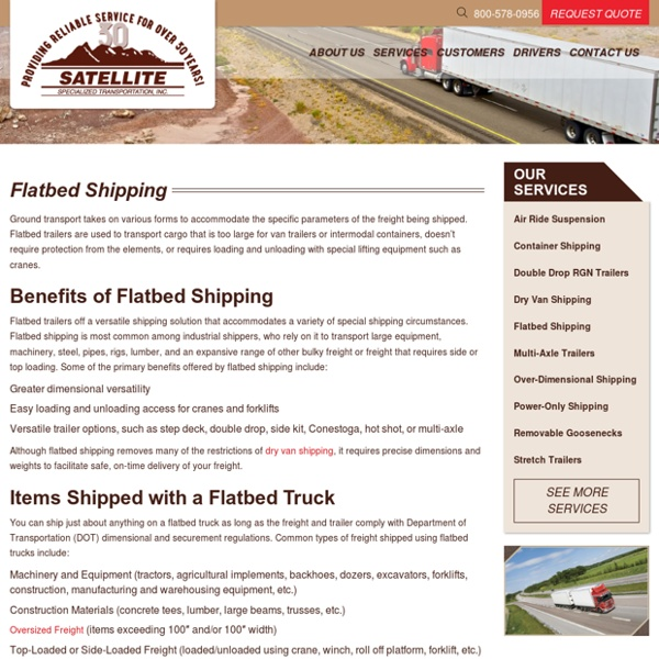 Flat Bed Trailers & Commercial Flatbed Trucking