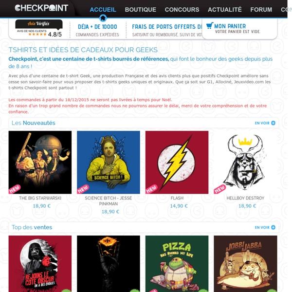 T-shirt Geek - Checkpoint boutique Geek, Ciné, Gamer et idée cadeau