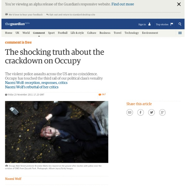 The shocking truth about the crackdown on Occupy
